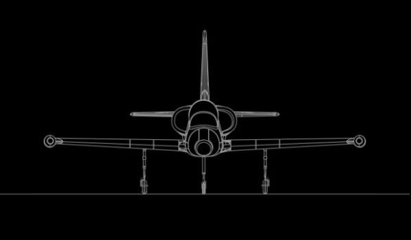 Maquette Avion L39 De Face