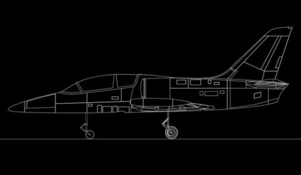 Maquette Avion L39 De Côté