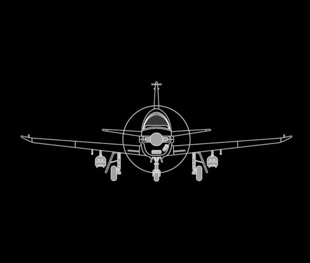 Maquette avion TB30 de face
