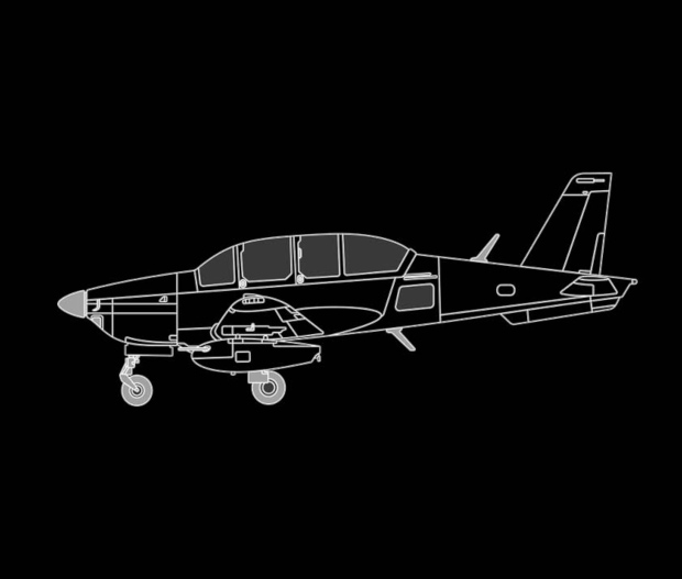 Maquette avion TB30 de côté